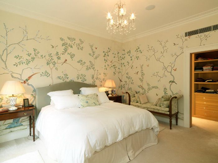 Master Bedroom Ideas With Flower Wall Mural1