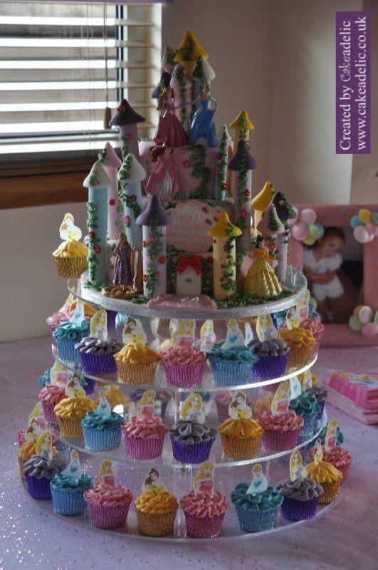 Disney Princess Birthday Castle And Princess Cupcakes Birthday