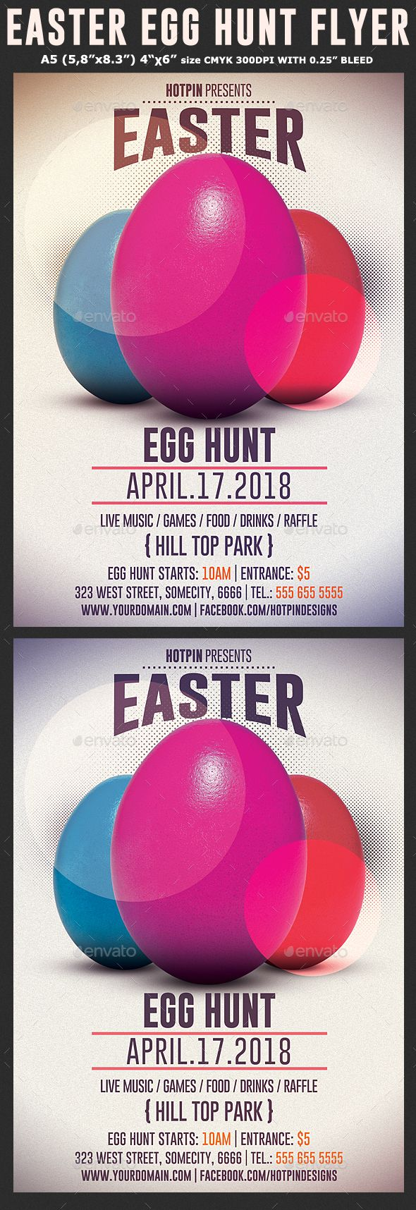Easter Egg Hunt Flyer Template  Flyer Template Template And Easter