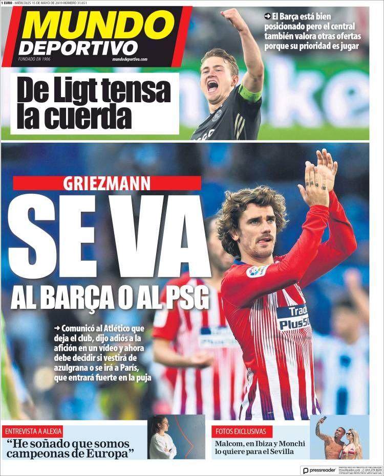 20190515 Periódico El Mundo Deportivo (España