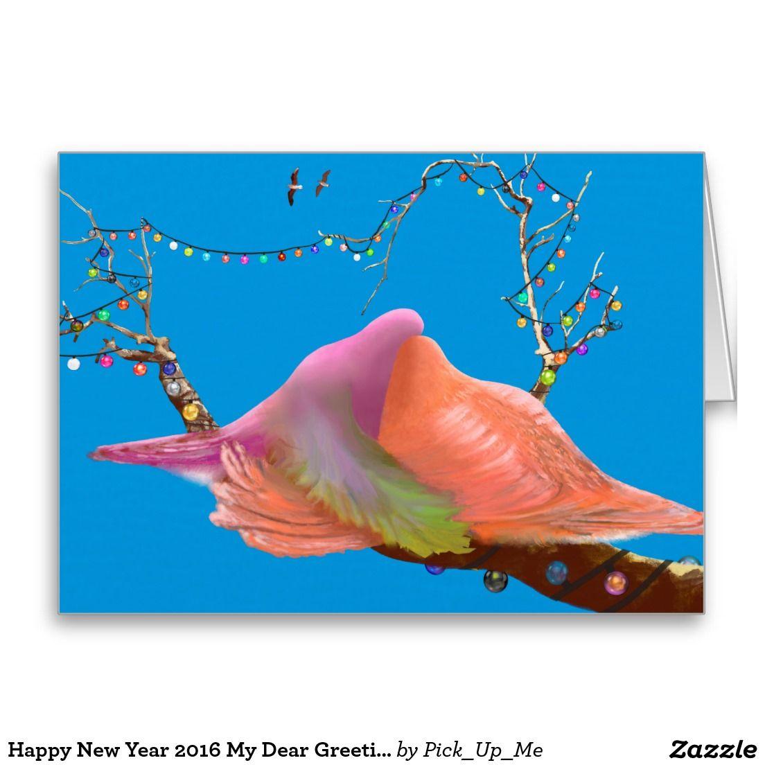 Happy New Year 2016 My Dear Greeting Card