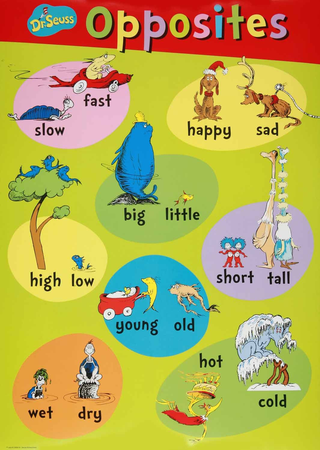 Dr Seuss Beginning Concepts Bulletin Board Set