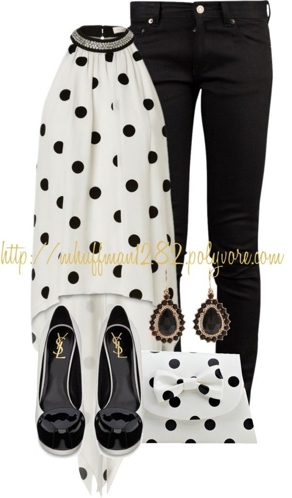 """""""Halter Top: Black and White"""" by mhuffman1282 on Polyvore"""