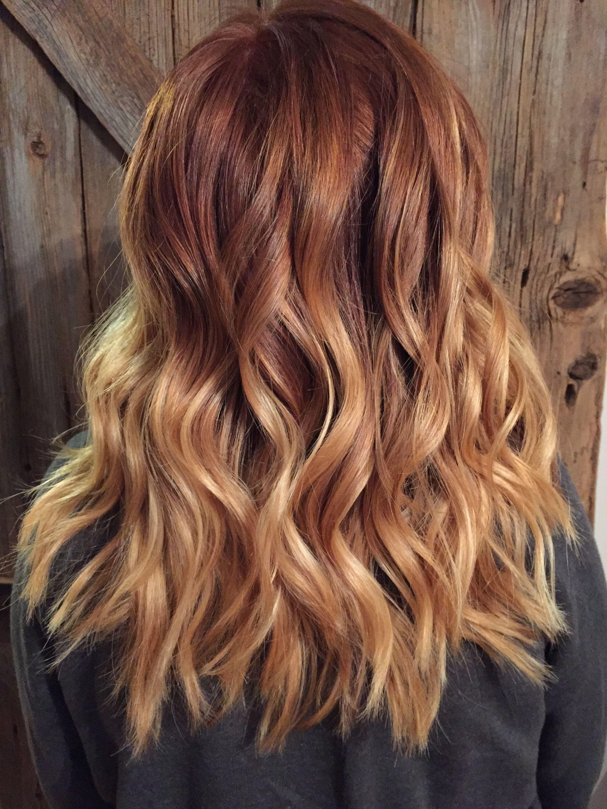 Inspirational rotes Haar mit blonden Spitzen Pinterest