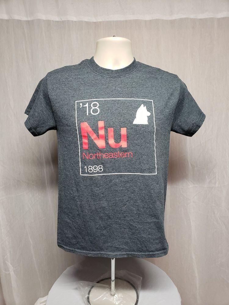 2018 NorthEastern University 1898 Adult Small Gray TShirt