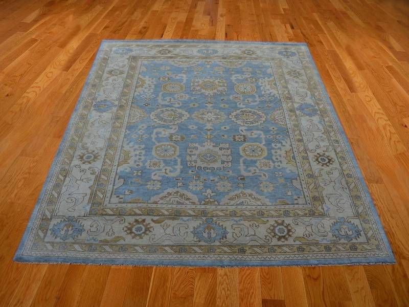 Natural Dyes Oriental Rug, 8' x 10' Hand Knotted Oushak 100% Wool Area Rug SH14219