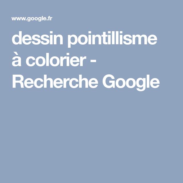 dessin pointillisme à colorier - Recherche Google