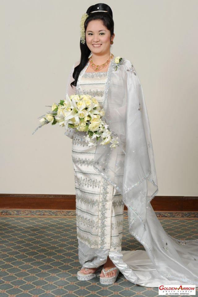 My Burmese wedding dress | King & Queen (Prince & Princess) | Pinterest