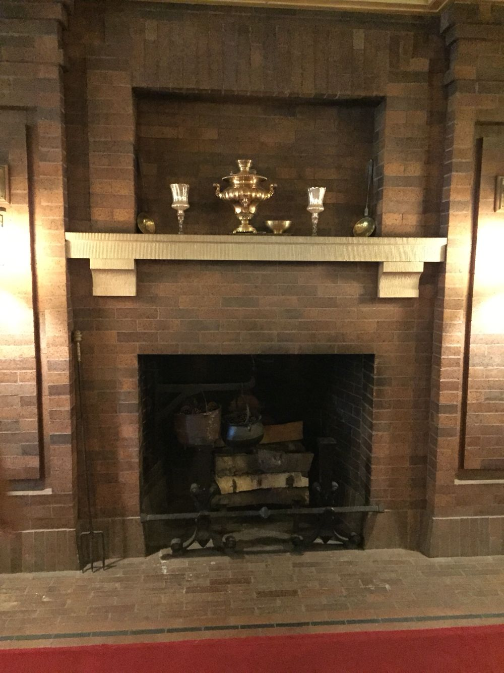 English inspired brick fireplace in duluth mn for the home