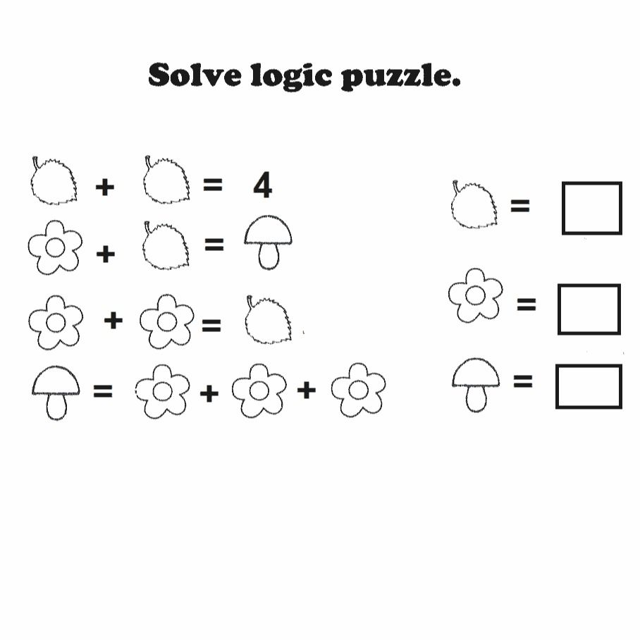 small resolution of Logic puzzle free printable worksheet   Math logic puzzles