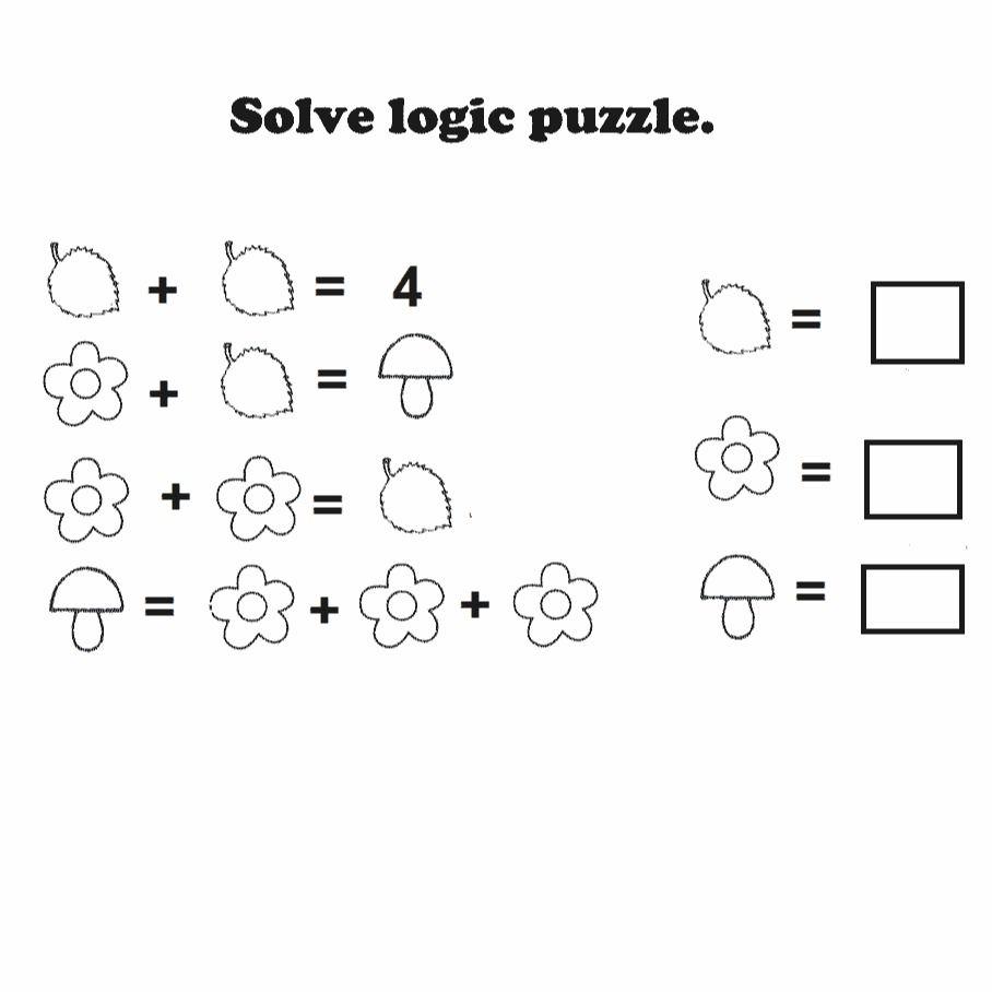 Logic puzzle free printable worksheet   Math logic puzzles [ 908 x 908 Pixel ]