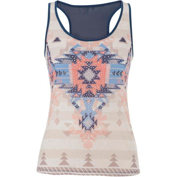 02b8a87fef48d2 maurices Ethnic Graphic Tank With Rhinestones ( 15) ❤ liked on Polyvore  featuring tops