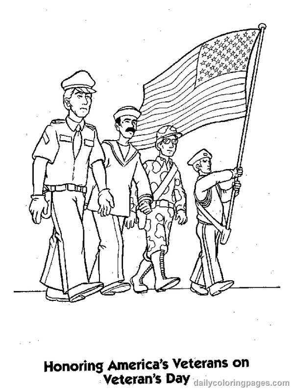 veterans day coloring pages holiday 01png 600