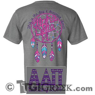 TGI Greek - Alpha Delta Pi - Comfort Colors - Bid Day - Greek T-shirts - Recruitment #TGIGreek #AlphaDeltaPi