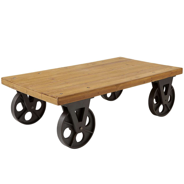 Spitalfields Coffee Table with Wheels Dunelm salontafel