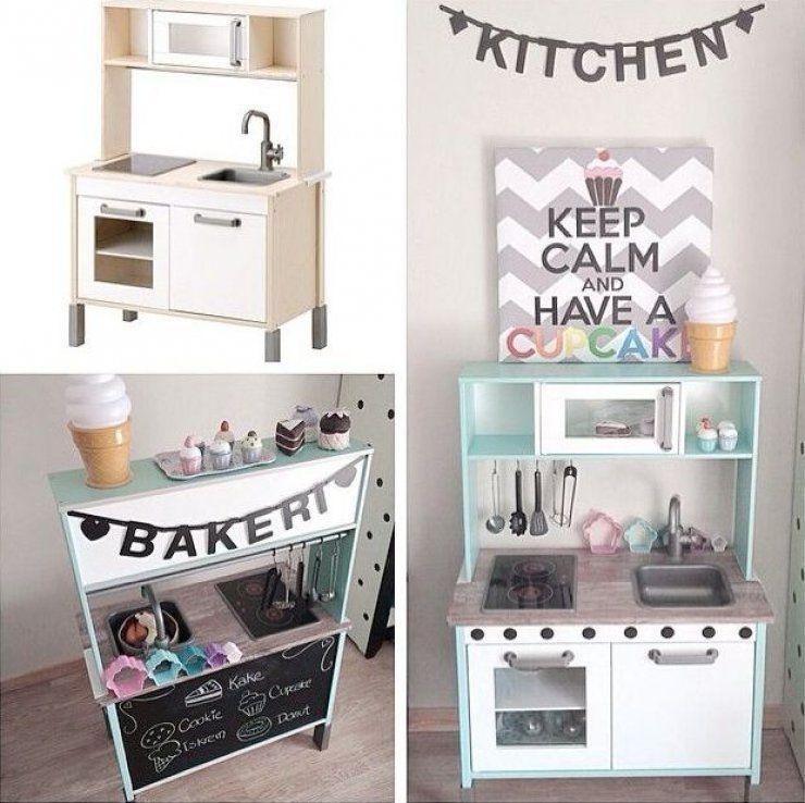 mommo design IKEA HACKS FOR KIDS IKEA - DUKTIG Play kitchen - möbel pallen küchen
