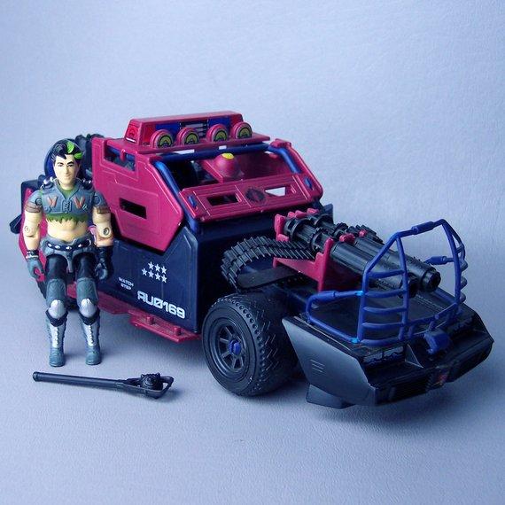 GI Joe Vehicle Thunder Machine Rear Wheel w Tire 1986 Original Part
