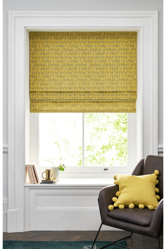Next Edinburgh Weavers Bean Roman Blind Yellow Roman Blinds Remodel Bedroom Blinds