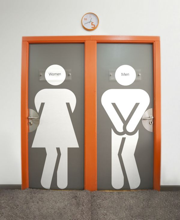 Fun Public Bathroom Door Designs