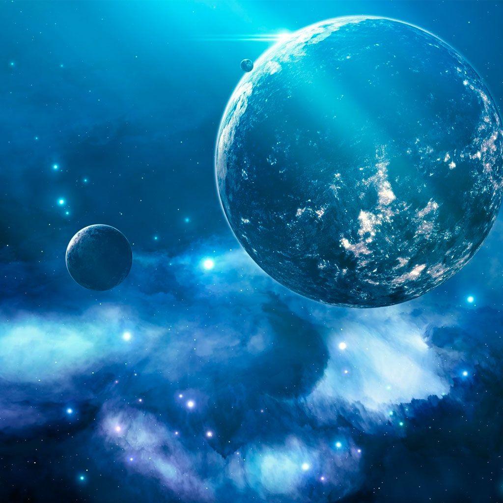 Planet Blue Galaxy Wallpaper Galaxy Wallpaper 3d Parallax Wallpaper