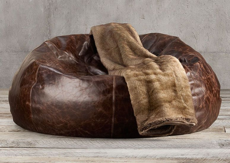 Brilliant Grand Leather Bean Bag Chair Chairs Leather Bean Bag Squirreltailoven Fun Painted Chair Ideas Images Squirreltailovenorg