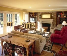 Family Room Renovation For A French Country Style Home Home Addition Renovation Familyroom
