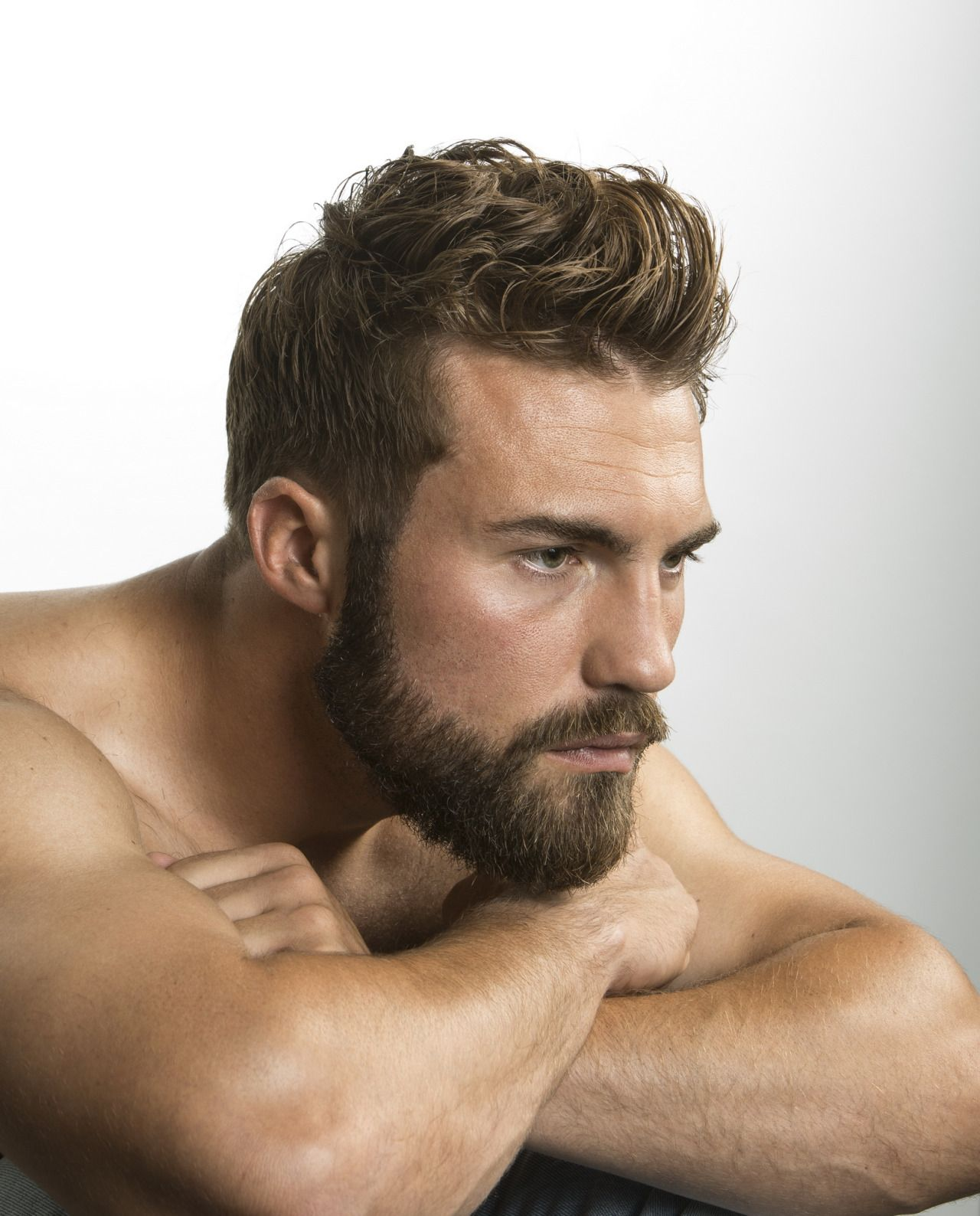 Mens haircut buzzed sides long top pin by christopher staats on beards  pinterest  guy beard haircut
