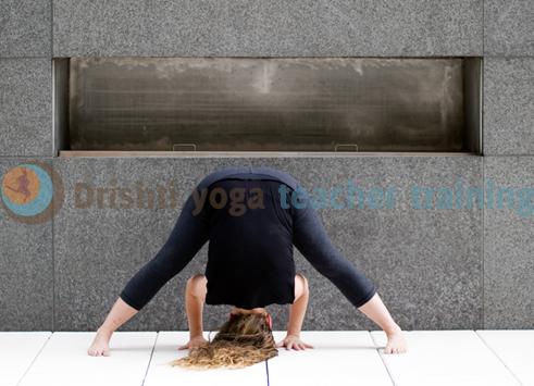 widelegged forward bend yoga pose adjustments prasarita