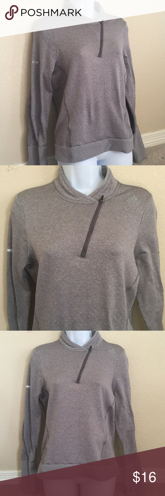 Predownload: Adidas Climaheat Running 1 4 Zip Adidas Running Adidas Tops Sweatshirts Hoodie [ 1740 x 580 Pixel ]