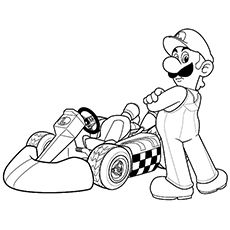 Mario And Luigi Dream Team Coloring Pages Background