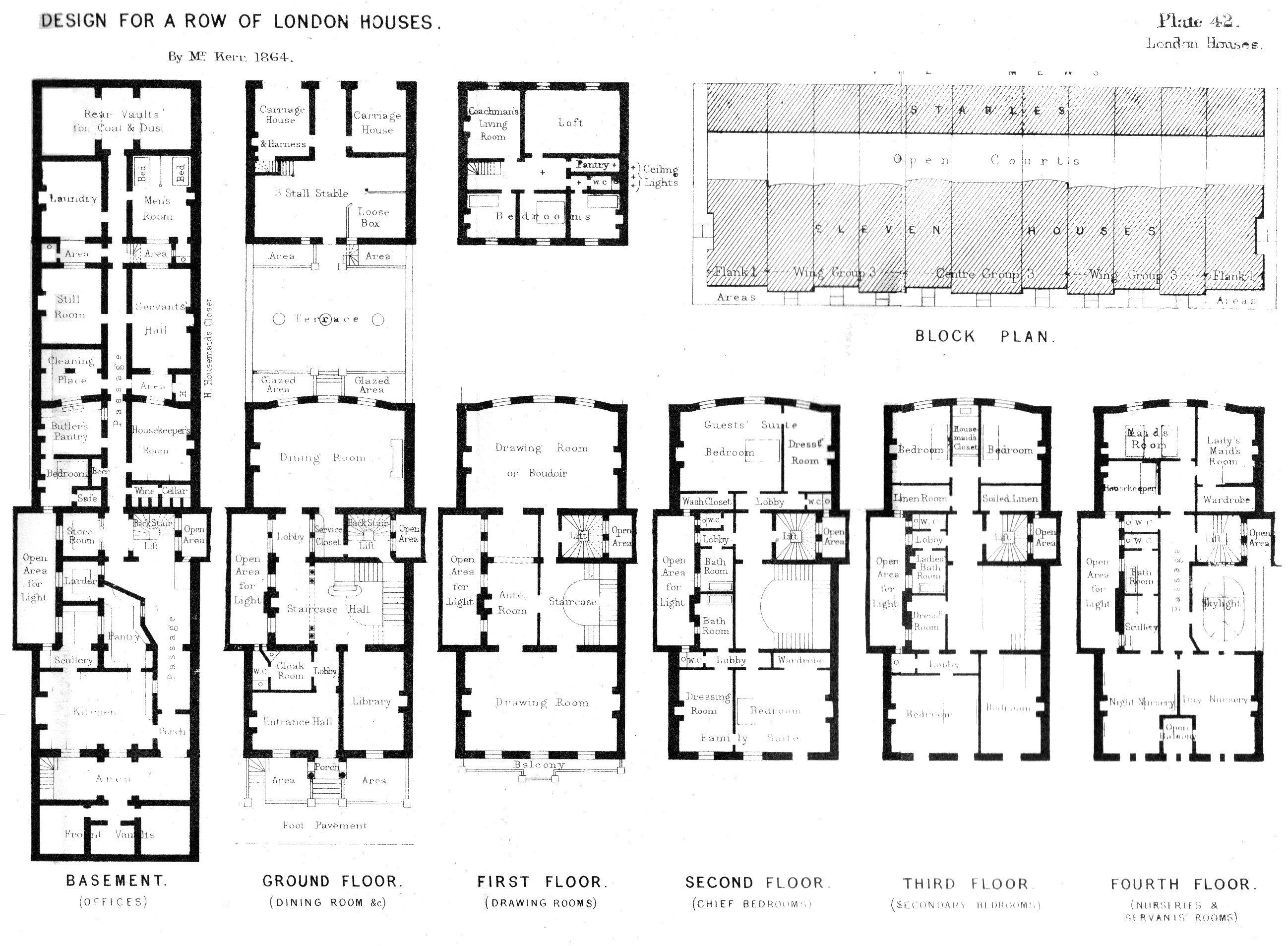 Georgian Terraced House In Belgravia London House Plans Uk Vintage House Plans Victorian House Plans