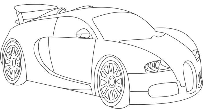 Bugatti Veyron W12 Coloring Page Bugatti Veyron Bugatti Veyron