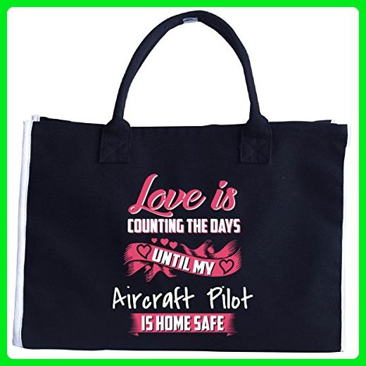 Love Is Counting The Days Until My Aircraft Pilot - Tote Bag - Totes (*Amazon Partner-Link)