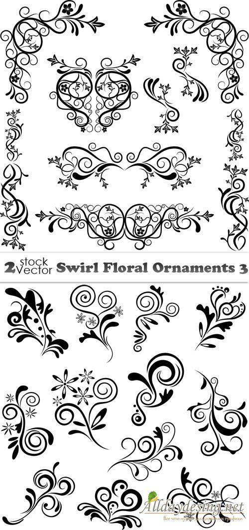 Орнамент декоративные завитки элементы дизайна вектор
