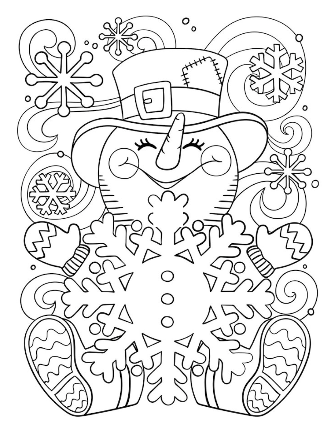 Cute Snowman Coloring Page Lots Of Beautiful Christmas Coloring Pages And Snowman Coloring Pages Christmas Coloring Sheets Printable Christmas Coloring Pages
