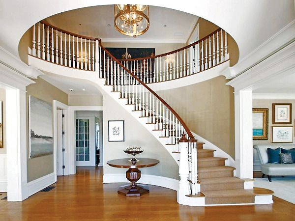 Foyer Spiral Staircase : A spiral staircase is the hallmark of homes elegant