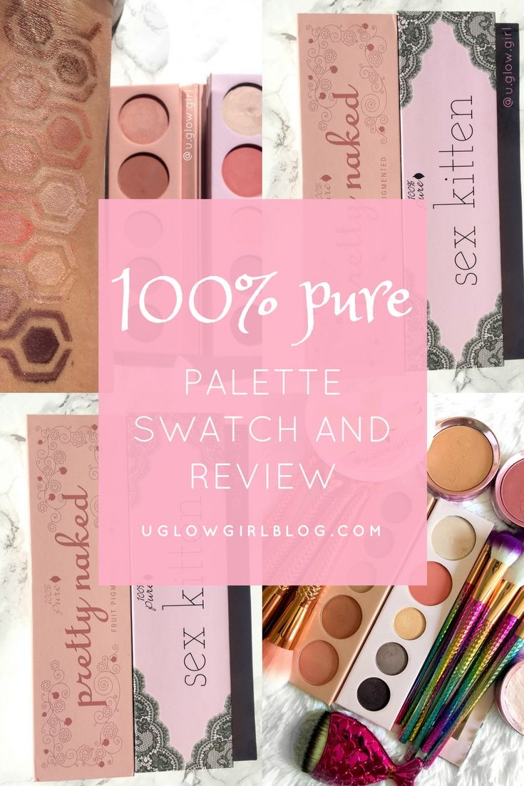 Are you loving natural makeup lately?  Are you trying to figure out what your options are?  Today on the blog I swatched the 100% Pure palettes and did a quick review.  Go check it out!