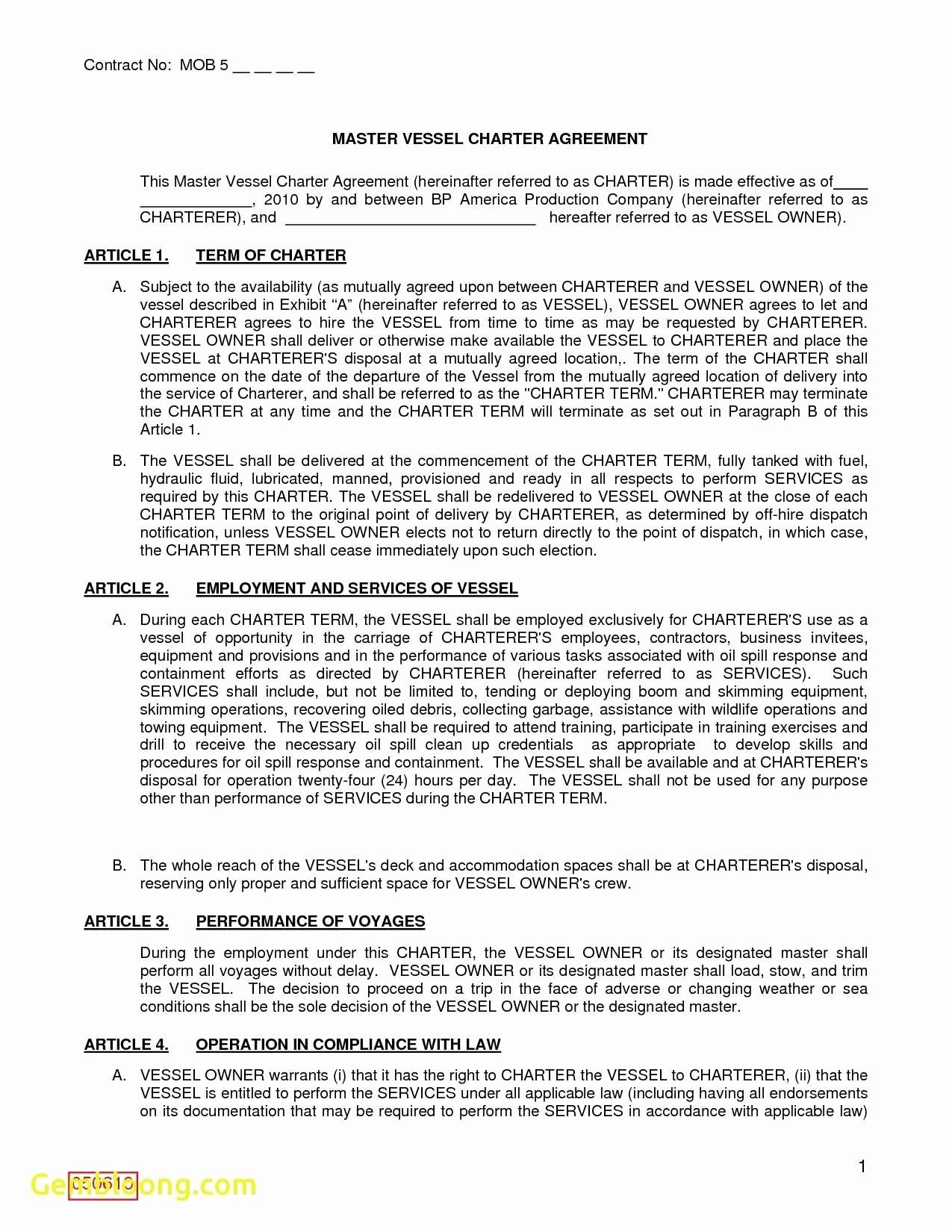 Master Service Agreement Template Inspirational Master Service