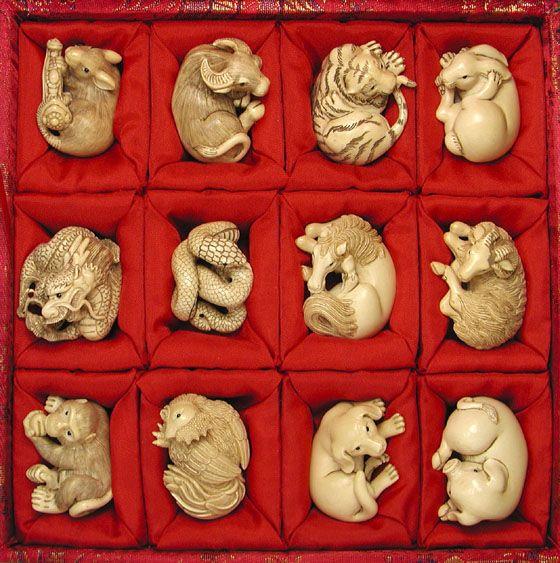 zodiac netsuke japaner chinese art asian art asiatische kunst pinterest miniatur. Black Bedroom Furniture Sets. Home Design Ideas