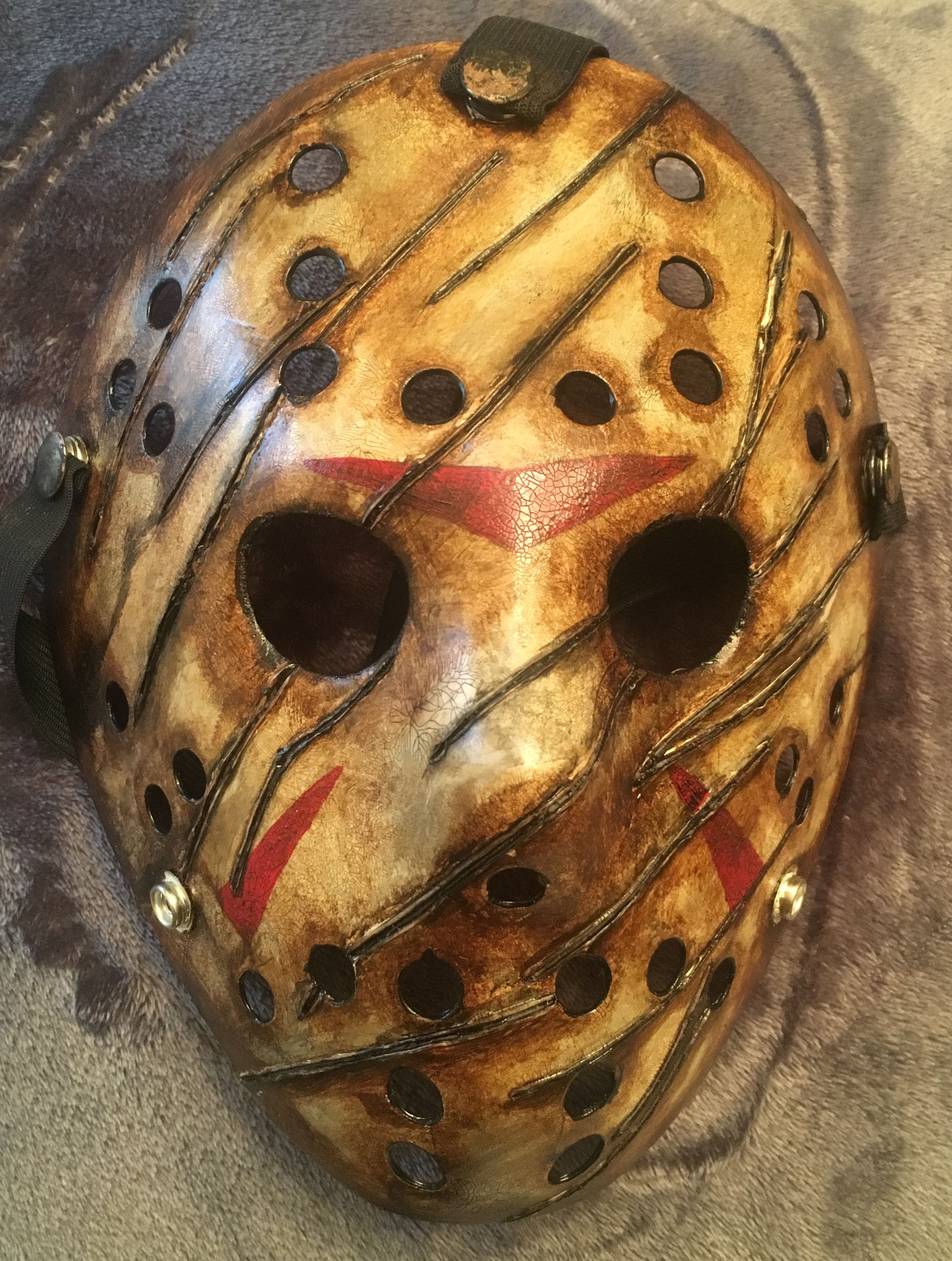 7674ac56ba9 Freddy vs Jason mask. Fiberglass mold from original Friday the 13th mask.  By creepy hollow studios