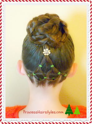 Adorable Christmas Tree Hairstyle Tutorial