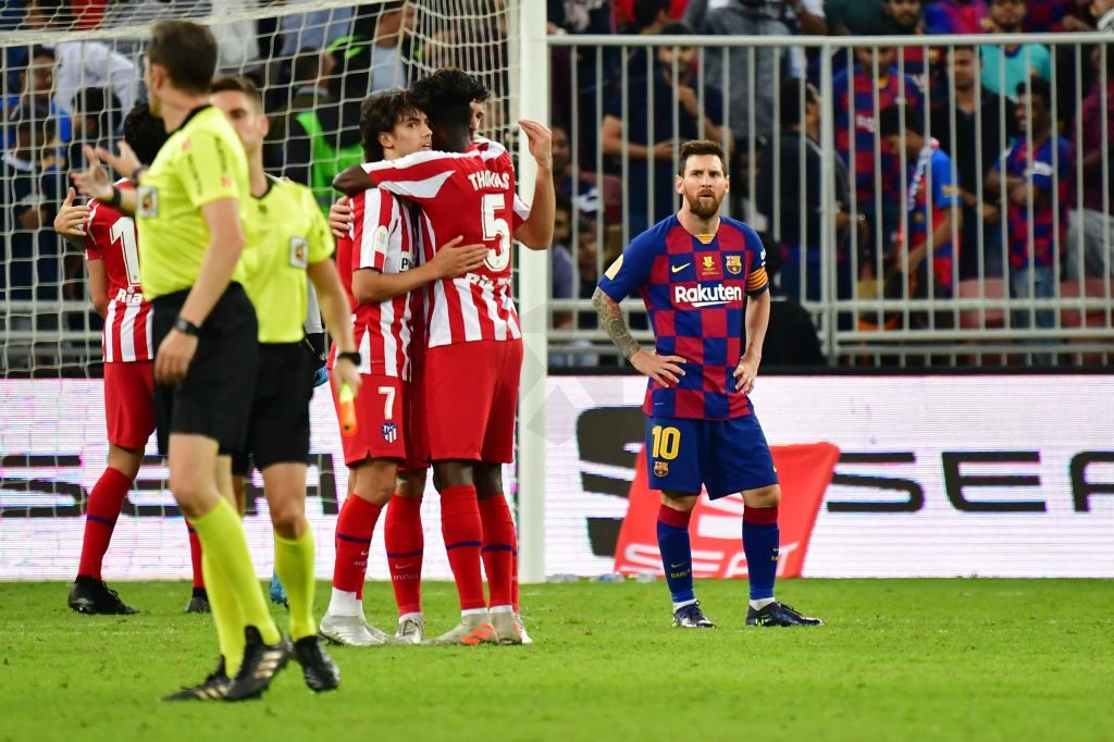 Barcelona Atletico Madrid 2 3 Simeon In The Final Of The Supercopa Of Spain Against Real Atlético Madrid Barcelona Vs Atletico Madrid Messi