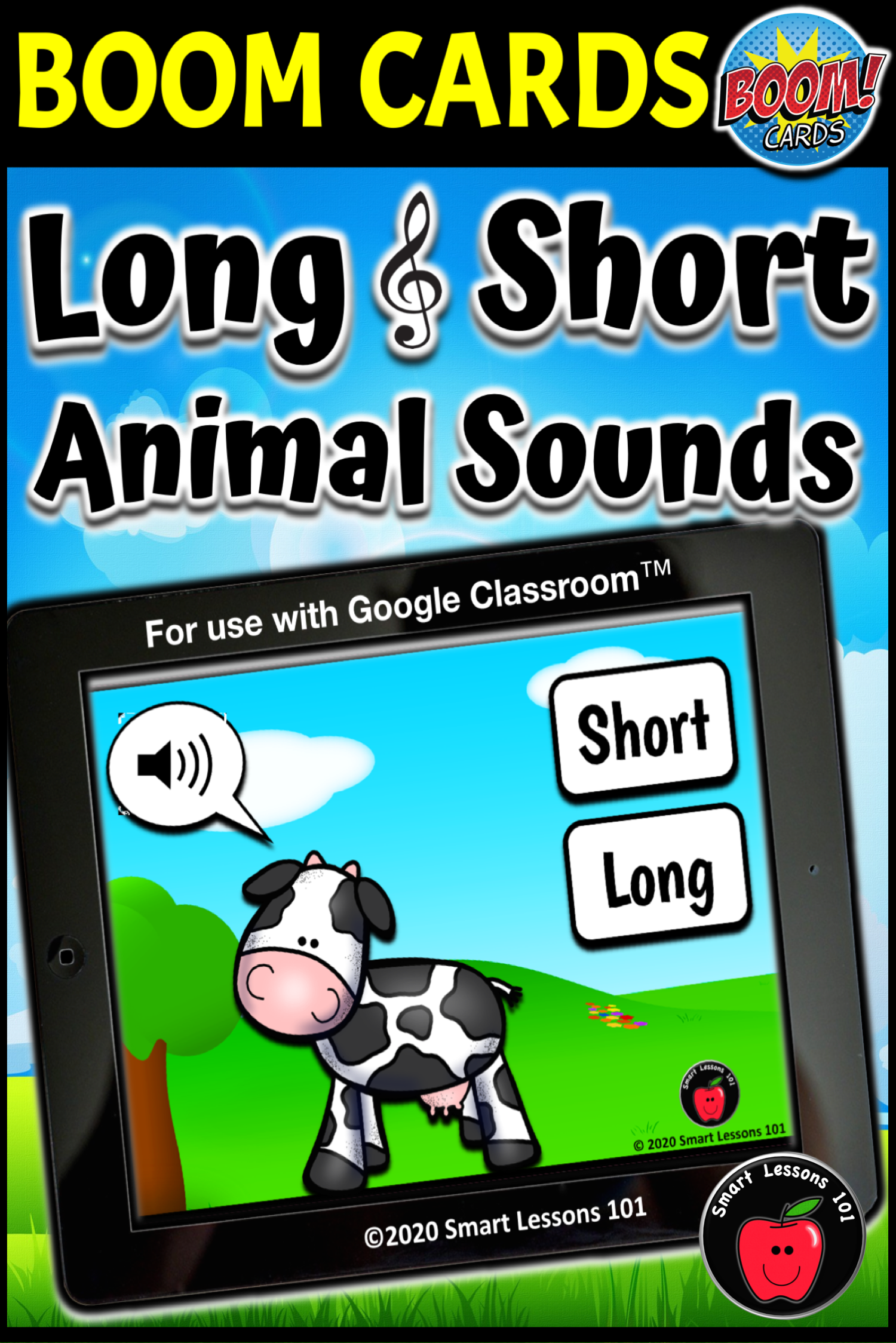 Long And Short Animal Sound Boom Cards Music