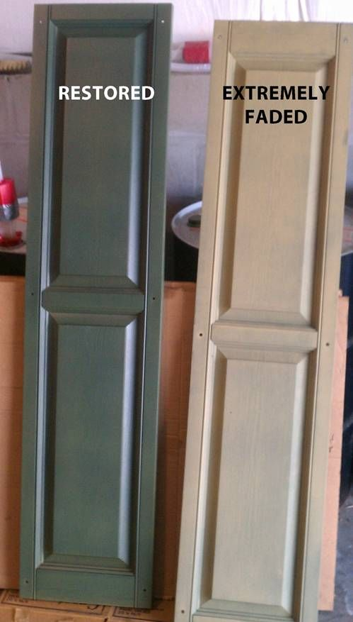 Generally You Get What You Pay For We Used Shutter Renu Over 8 Years Ago On Our Faded Gray Shutters Vinyl Shutters Wooden Shutters Exterior Plastic Shutters