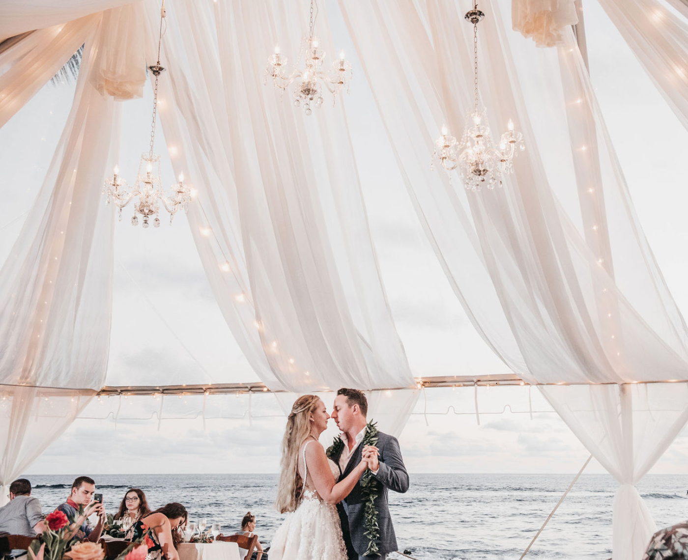 The Beach House Kauai Destination Wedding Tent Enhancements Beach House Kauai Oceanfront Wedding Kauai Wedding
