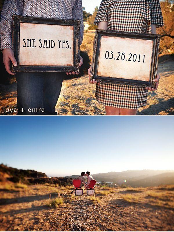photo frames for engagement session