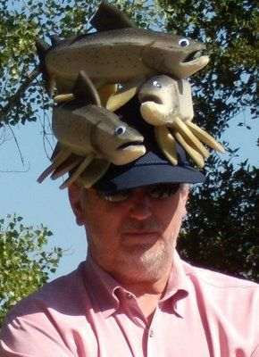 Fish Hat For Those That Like Both Hats And Fish On Them Hats Dumb And Dumber