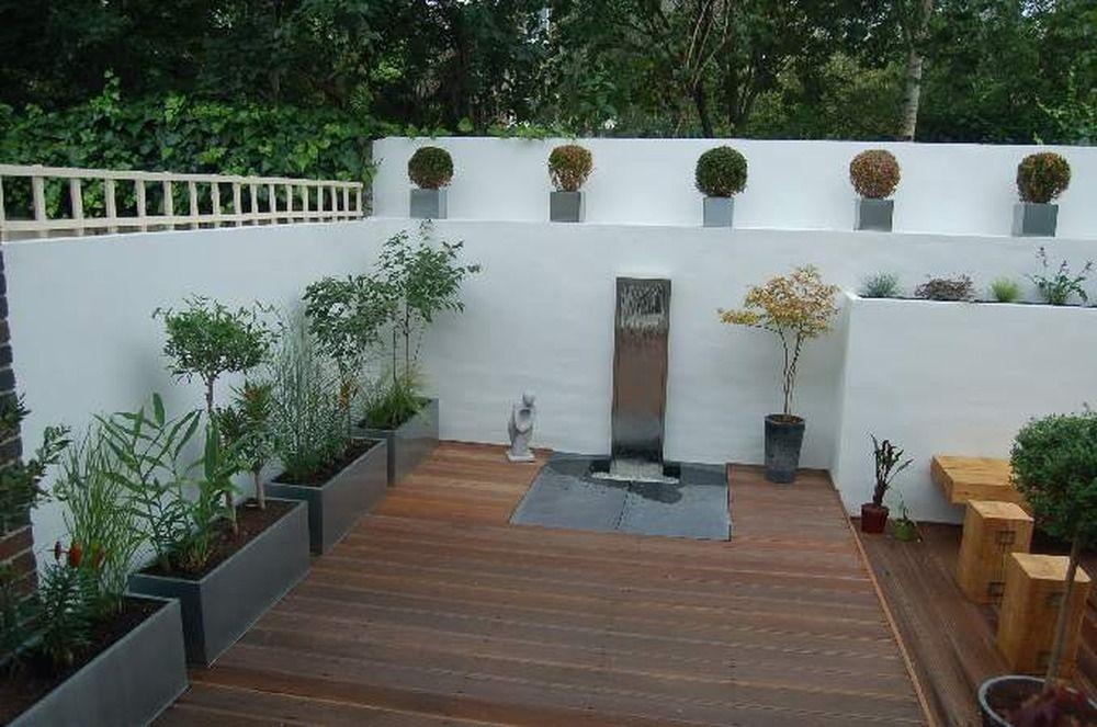 Re render garden wall plastering job in richmond surrey for Garden design richmond va