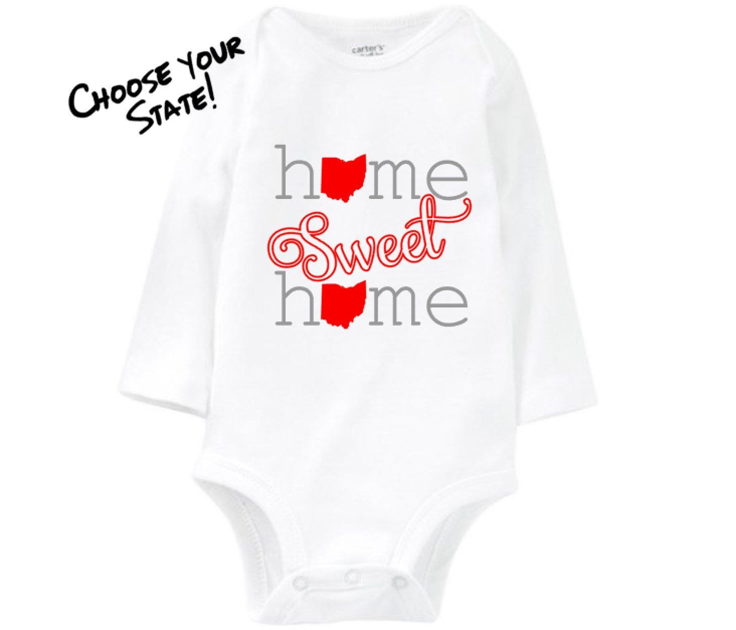 Home sweet home onesie home state shirt unique baby gift home sweet home onesie home state shirt unique baby gift personalized baby onesies negle Gallery
