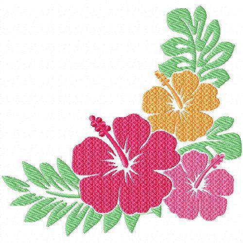 Hibiscus 3 Flower 08 Machine Embroidery Design Flower Machine Embroidery Designs Machine Embroidery Designs Embroidery Flowers